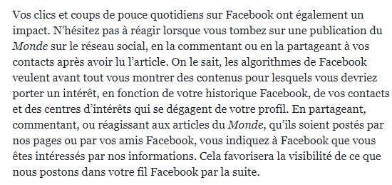 Le Monde et Facebook