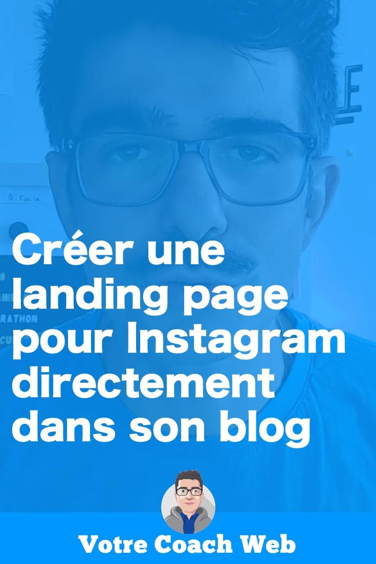 Utiliser WordPress et Gutenberg pour créer une landing page pour Instagram