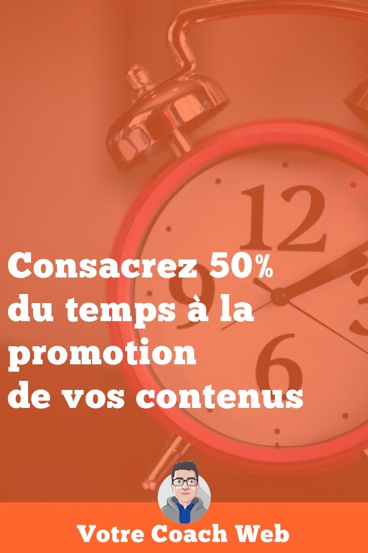 349. Consacrez 50% de votre temps à la promotion de vos contenus