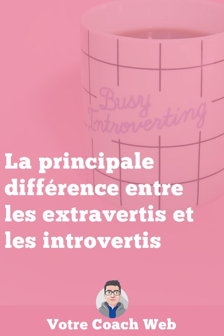 383. La principale différence entre les extravertis et les introvertis
